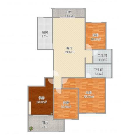 惠来香格里拉花园4室1厅2卫1厨168.00㎡户型图