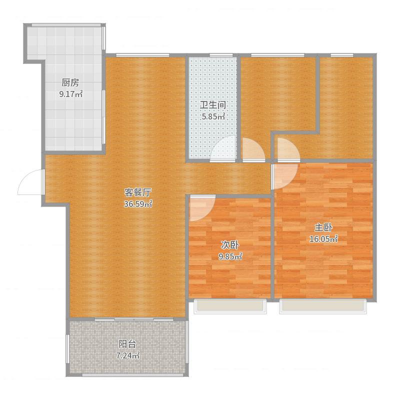 碧桂园129平方 套7号方案