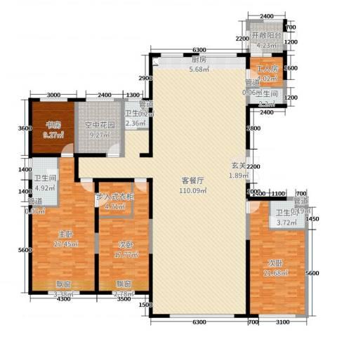 恒茂国际都会4室2厅4卫0厨277.00㎡户型图