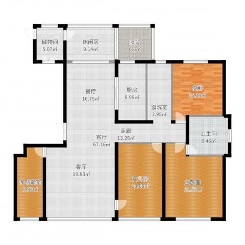 海鑫花园1室1厅1卫1厨213.00㎡户型图