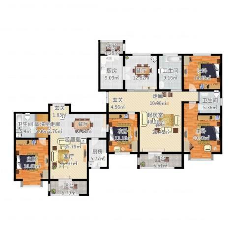 宝坻书香园4室1厅3卫2厨258.00㎡户型图
