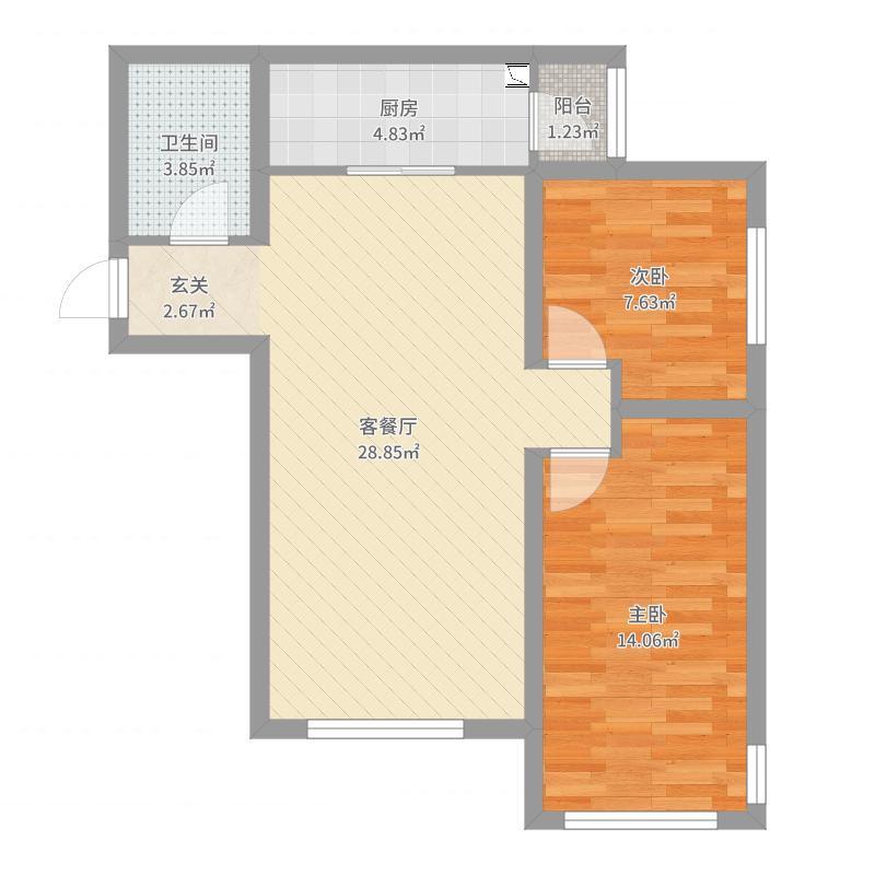 廊坊_K2·京南狮子城_2017-04-11-2239户型图