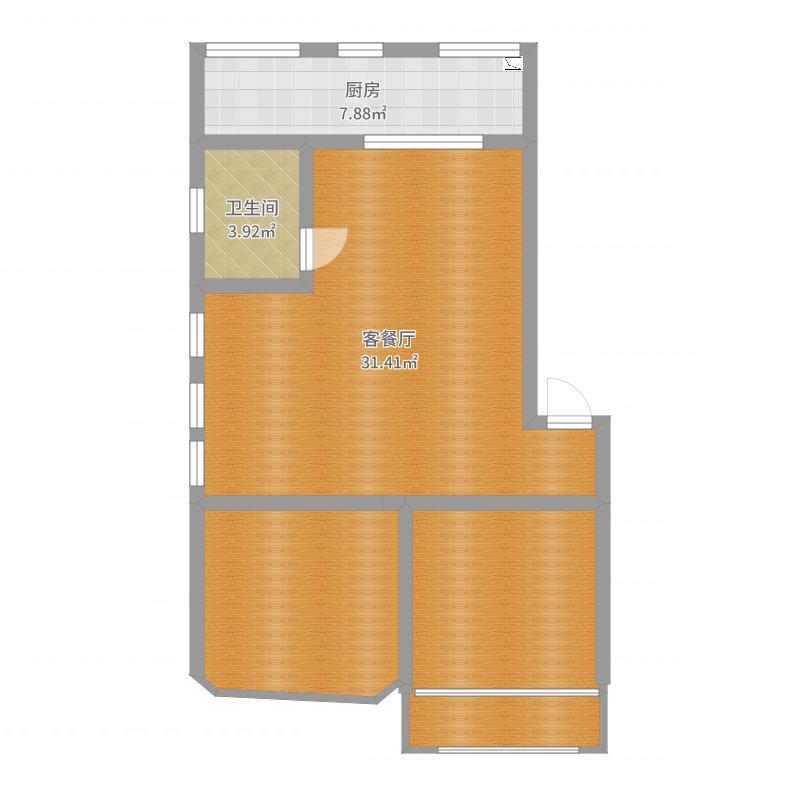 宣化区皇城世纪苑3期7-3-602户型图