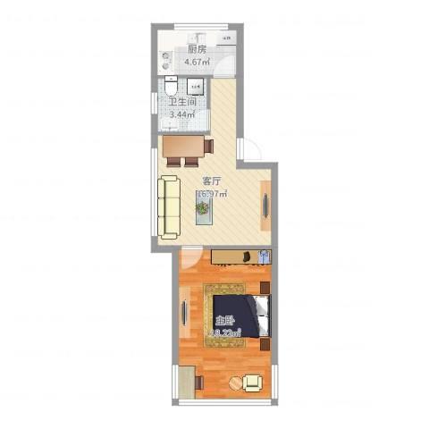 甬江家园1室1厅1卫1厨54.00㎡户型图
