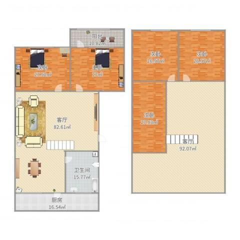 前屯小区5室2厅1卫1厨443.00㎡户型图