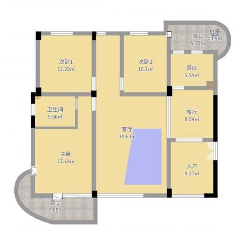 CLD未来城四期1室2厅1卫1厨115.49㎡户型图