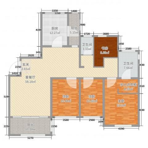 南通运杰龙馨园4室2厅2卫1厨196.00㎡户型图