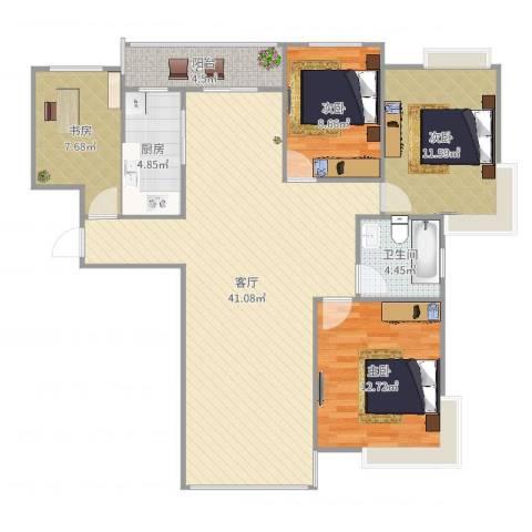 时代豪庭4室1厅1卫1厨119.00㎡户型图