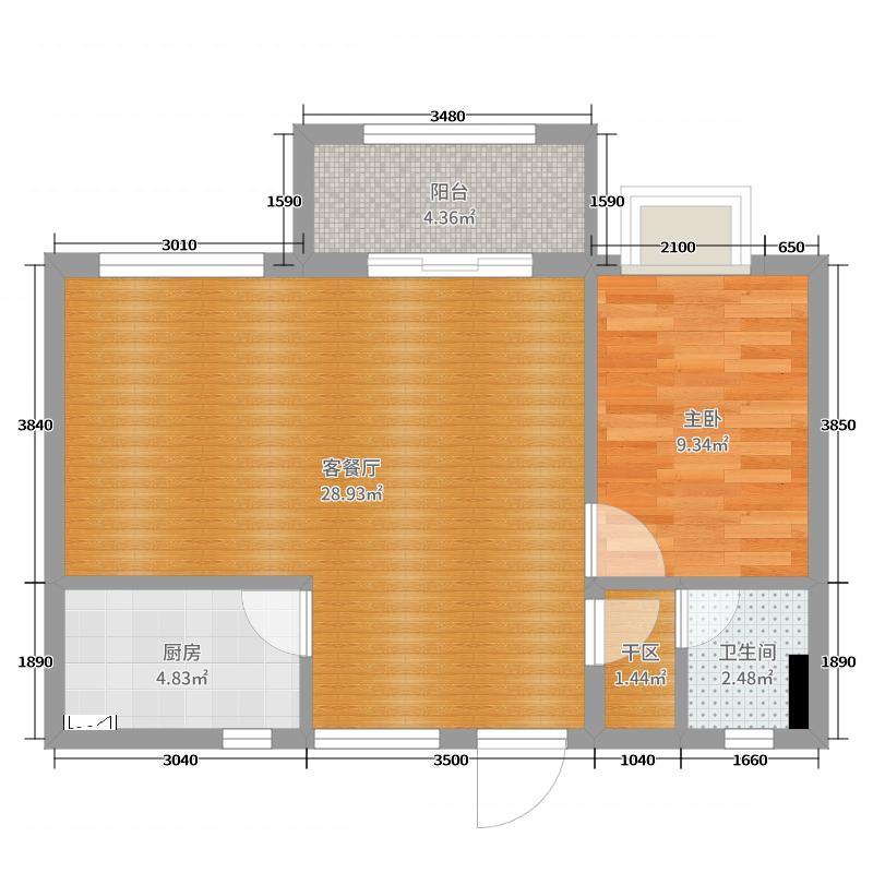 老年公寓66m2案例赏析