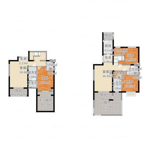 金隅香溪家园3室6厅4卫1厨244.00㎡户型图
