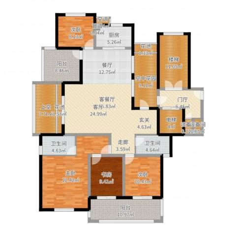 金瑞名都4室2厅2卫1厨217.00㎡户型图