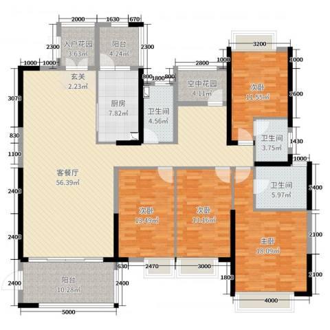 鼎峰源著4室2厅3卫1厨200.00㎡户型图