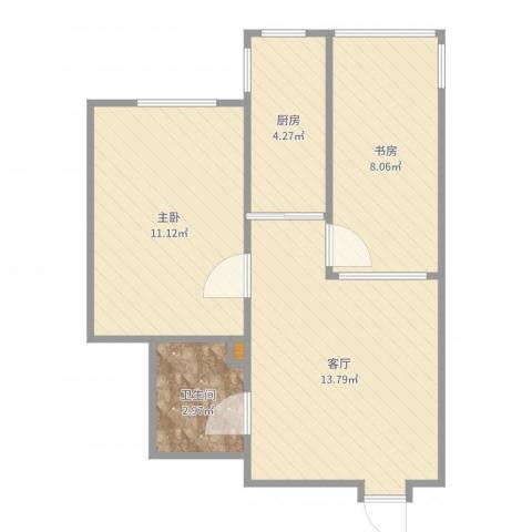 馨居园2室1厅1卫1厨50.00㎡户型图
