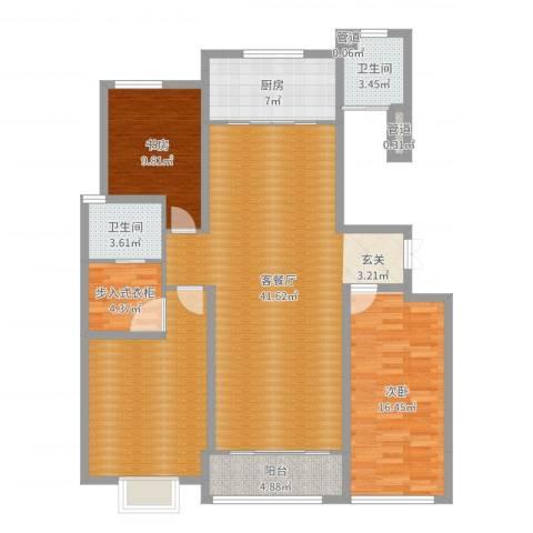 凤鸣郡2室2厅2卫1厨134.00㎡户型图
