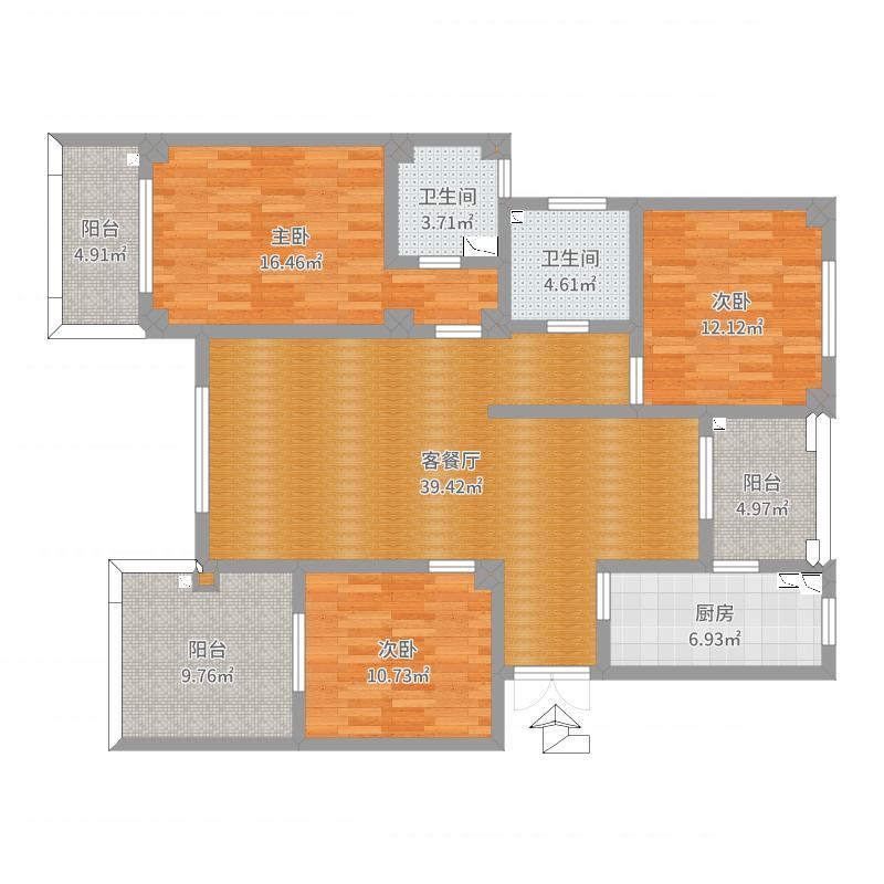 朱队-B4房型原建筑图
