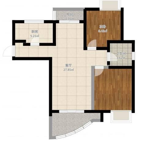 棕榈滩海景城1室1厅1卫1厨80.00㎡户型图