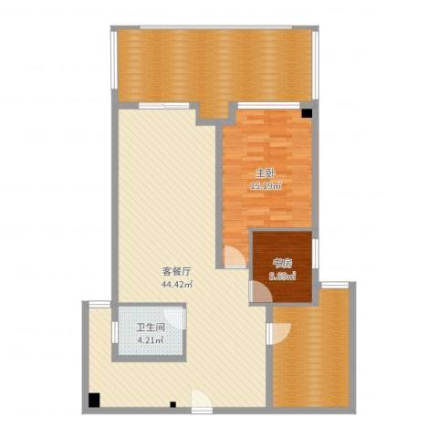 公园新天地2室2厅1卫0厨99.95㎡户型图