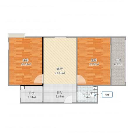 冯冲-12室1厅1卫1厨87.00㎡户型图