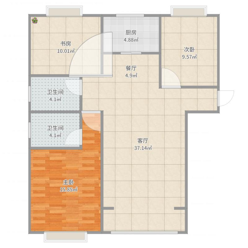 三室两厅两卫装修设计方案