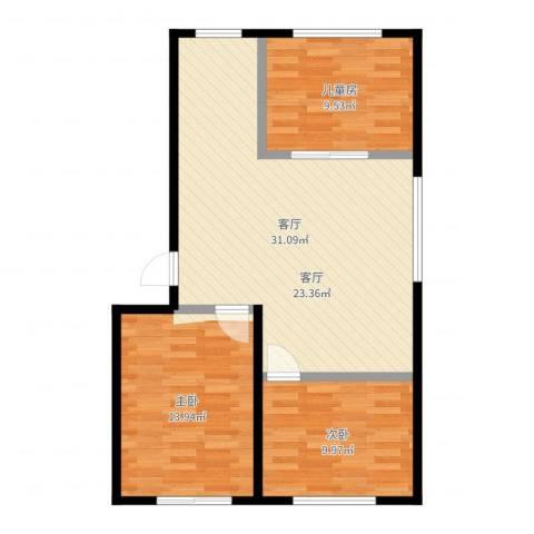 威达花园3室1厅0卫0厨64.53㎡户型图