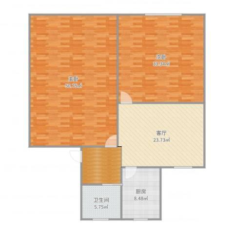 香山新村西南街坊2室1厅1卫1厨161.00㎡户型图