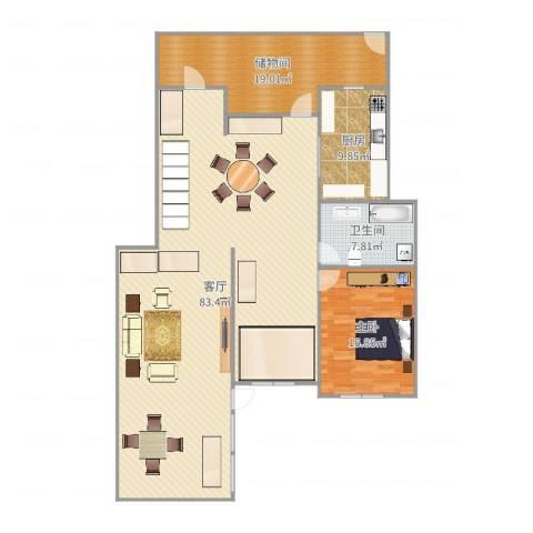 佳兆业・龙湾1室1厅1卫1厨135.92㎡户型图