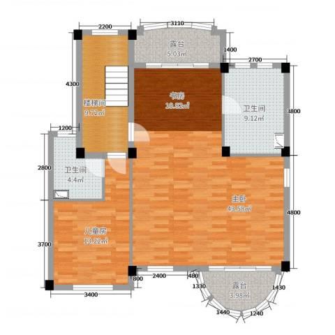 洛阳碧桂园2室0厅2卫0厨260.00㎡户型图