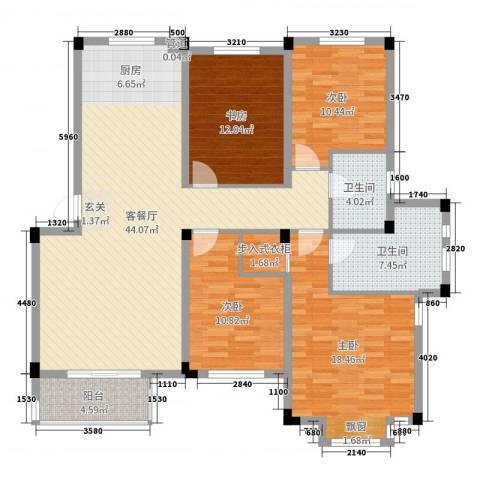 保亿风景沁园4室2厅2卫0厨142.00㎡户型图