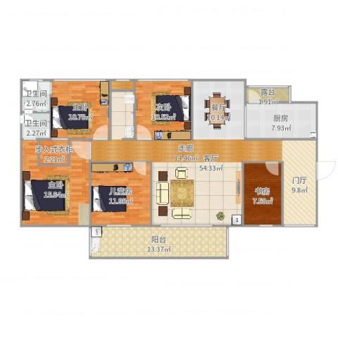 希桥商贸城5室1厅2卫1厨178.00㎡户型图