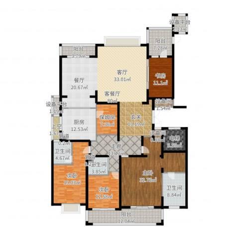 雅戈尔东海府4室2厅3卫1厨287.00㎡户型图