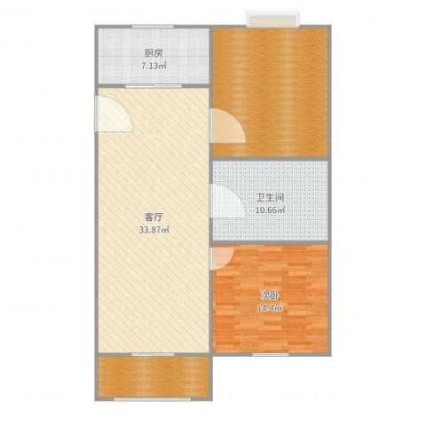 瑞都新城1室1厅1卫1厨111.00㎡户型图