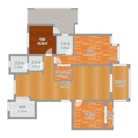 发现538434904室2厅3卫1厨152.00㎡户型图