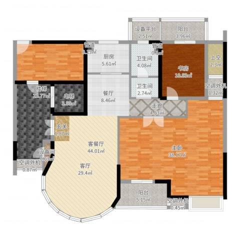 瑞宏・阳光水岸2室2厅1卫1厨188.00㎡户型图