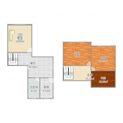 桃浦五村2室2厅1卫1厨179.00㎡户型图