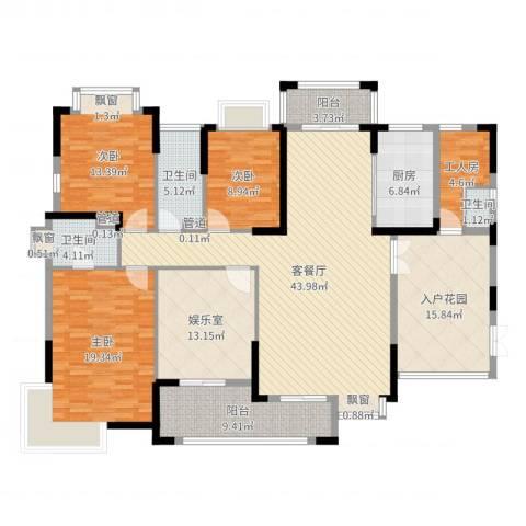 虎门国际公馆3室2厅3卫1厨187.00㎡户型图