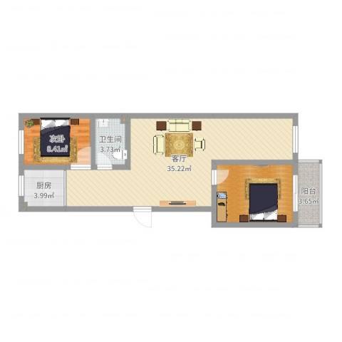 阳光小区1室1厅1卫1厨84.00㎡户型图