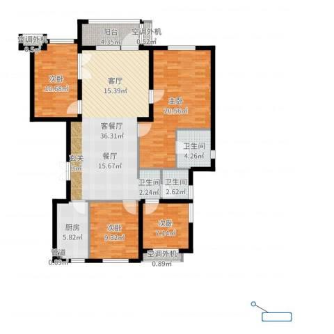 星河传说4室2厅2卫1厨129.00㎡户型图