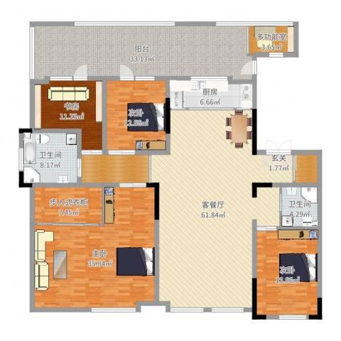 万晟清华园4室2厅2卫1厨260.00㎡户型图