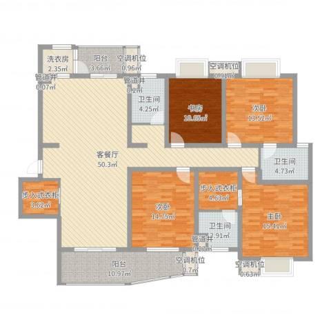 花都艺墅4室2厅7卫4厨183.00㎡户型图