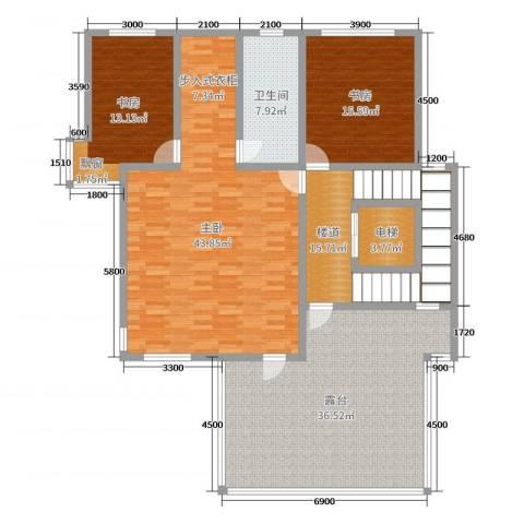 大汉汉园3室0厅1卫0厨384.00㎡户型图