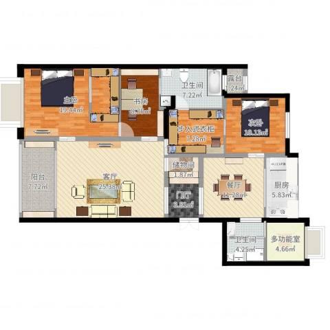 同进君望3室2厅2卫1厨148.00㎡户型图