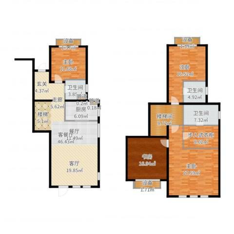 浦江颐城尚院4室2厅3卫1厨204.00㎡户型图