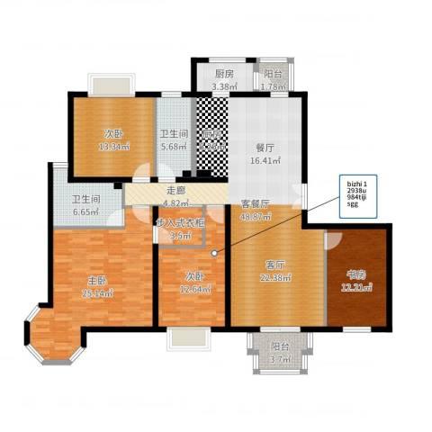 2U・香花畦4室2厅2卫1厨171.00㎡户型图