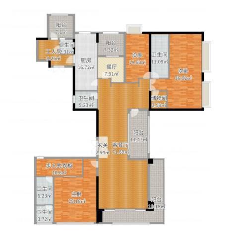 新天鹅堡3室3厅4卫1厨339.00㎡户型图