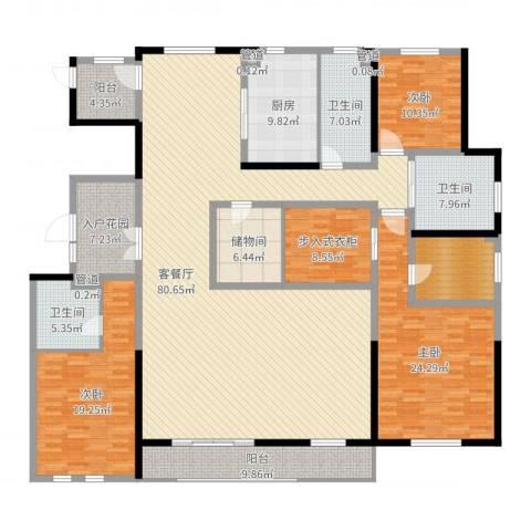 姑苏金茂府3室2厅3卫1厨260.00㎡户型图