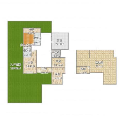 黄河龙城4室2厅1卫1厨471.00㎡户型图