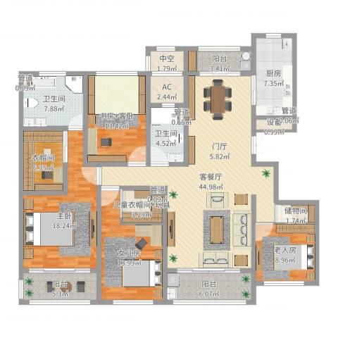 同进君望2室2厅2卫1厨189.00㎡户型图