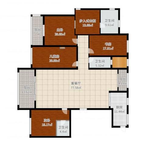同进君望4室2厅3卫1厨285.00㎡户型图
