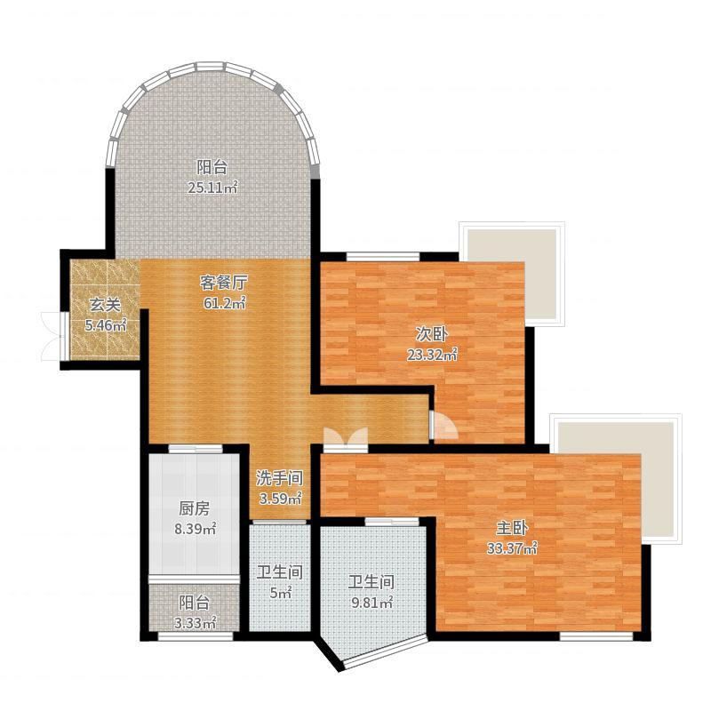 棕榈泉国际公寓户型图