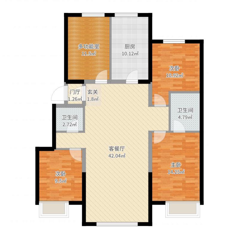 哈南万达广场户型图